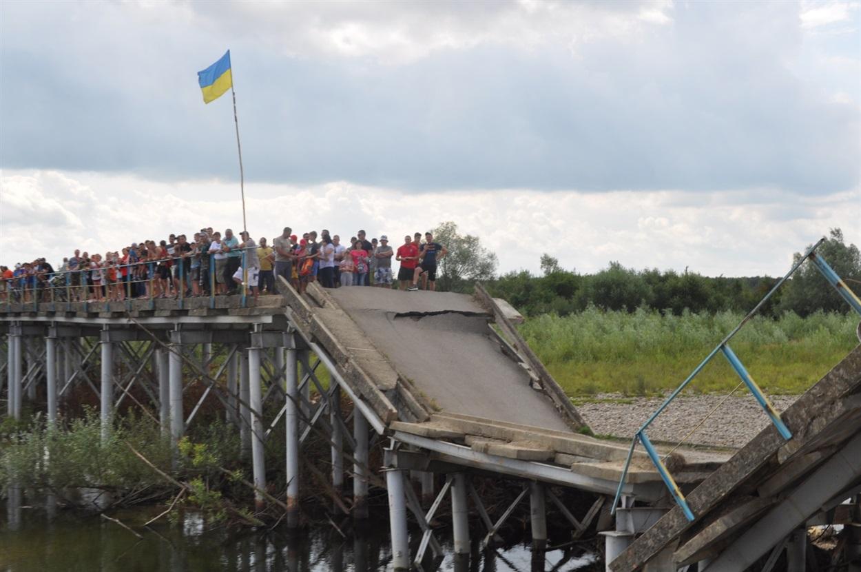 Аварійний міст до с. Довге-Калуське