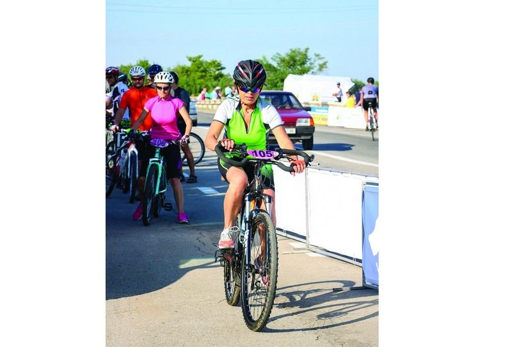Рефиде участвовала в велогонке впервые