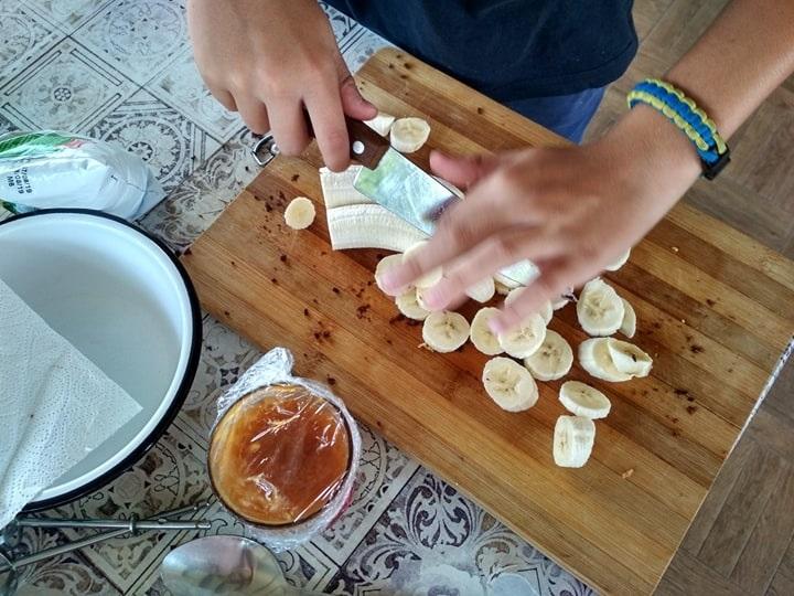 Порізали банани