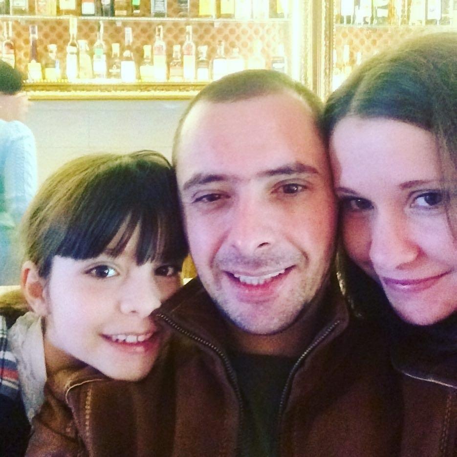 Олександр з дружиною і донькою до нещасного випадку
