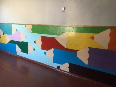 Ремонт шкільного коридору (с. Олефірівка)